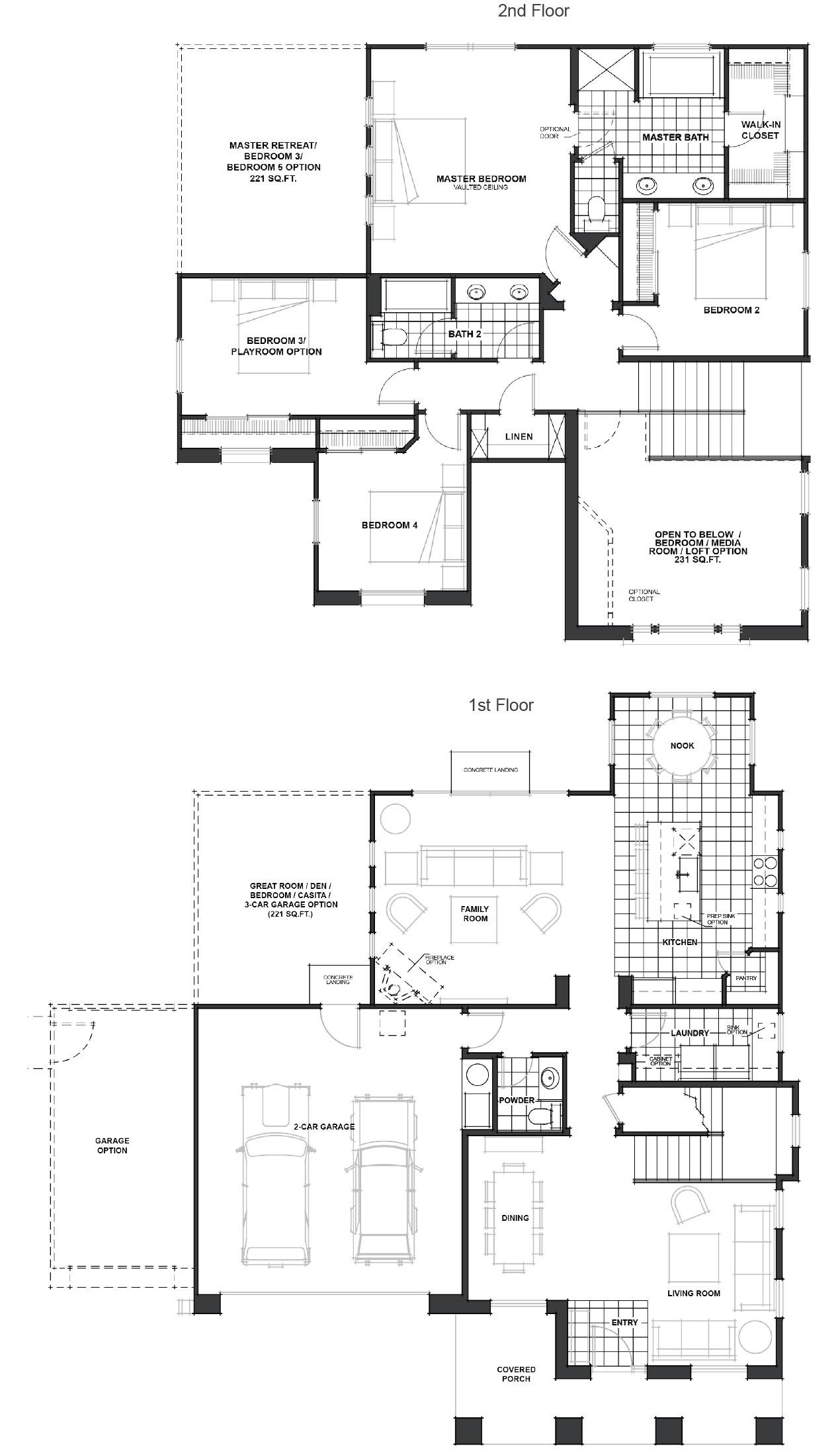 carrollton floor plan - Jkb Homes Floor Plans