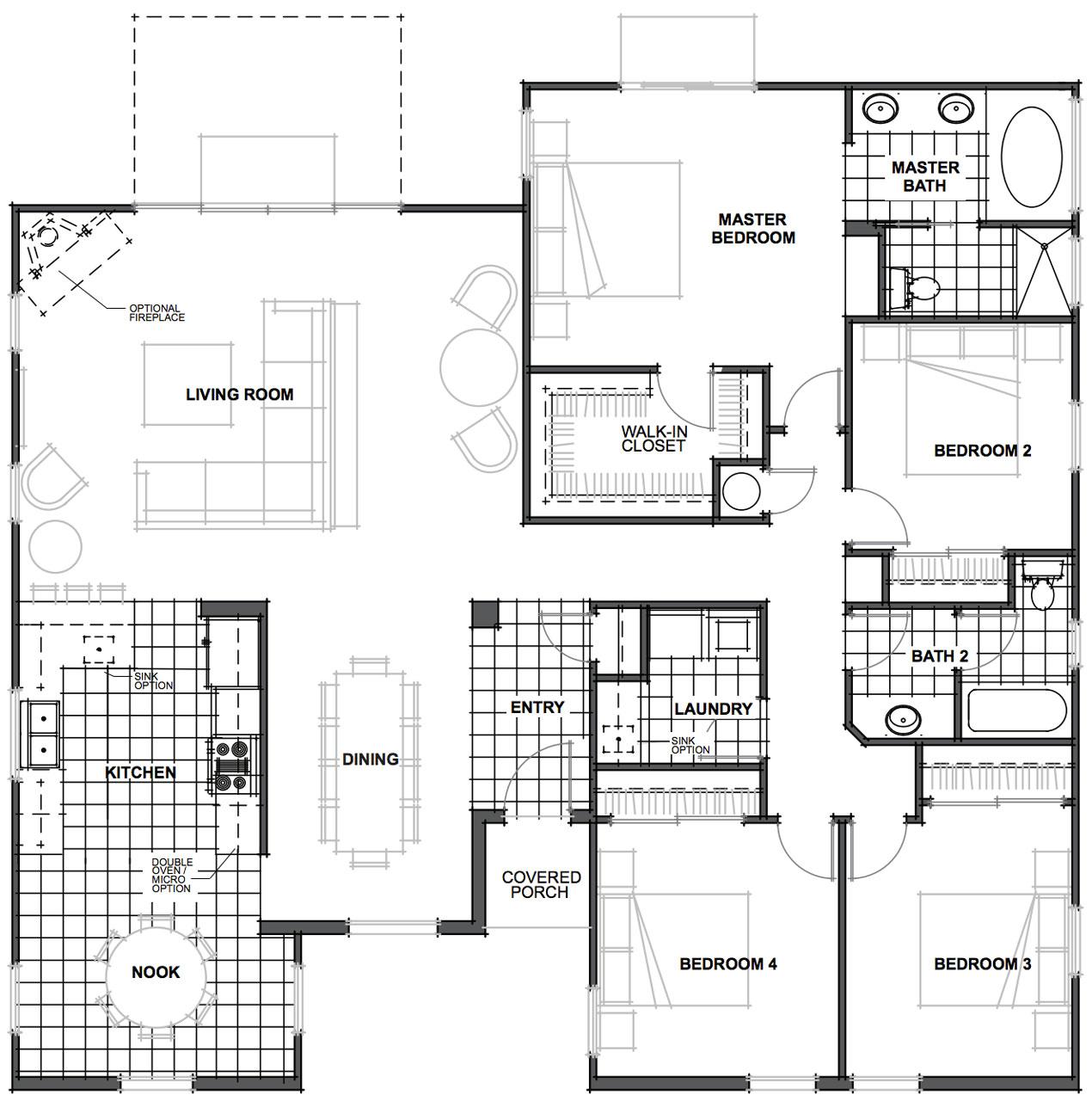 danville floor plan - Jkb Homes Floor Plans