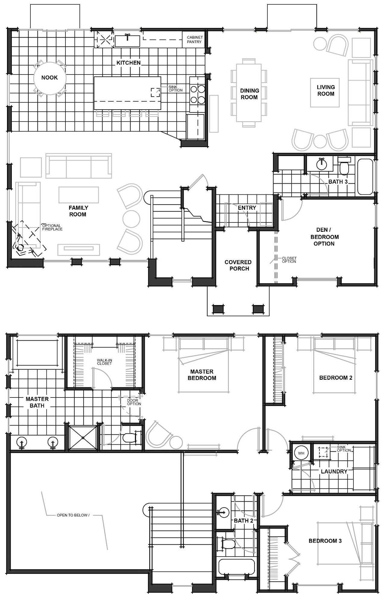 worthington floor plan - Jkb Homes Floor Plans